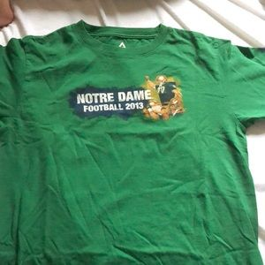 Green Notre Dame game shirt
